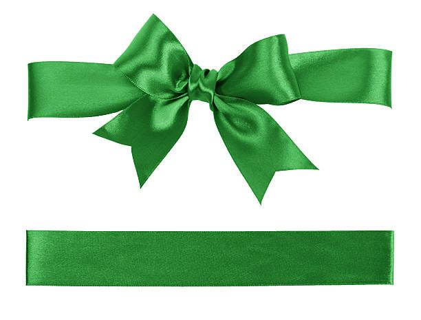 Cinta y arco verde - foto de stock
