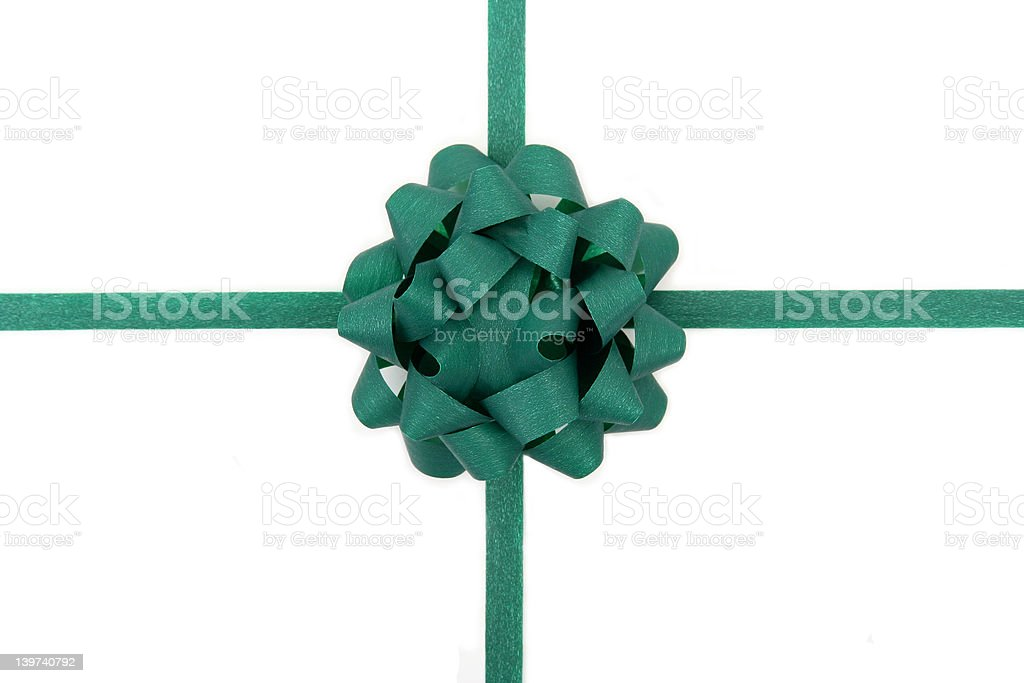 green bow stock photo