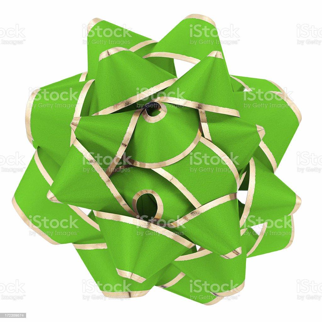 Verde Bow foto de stock libre de derechos