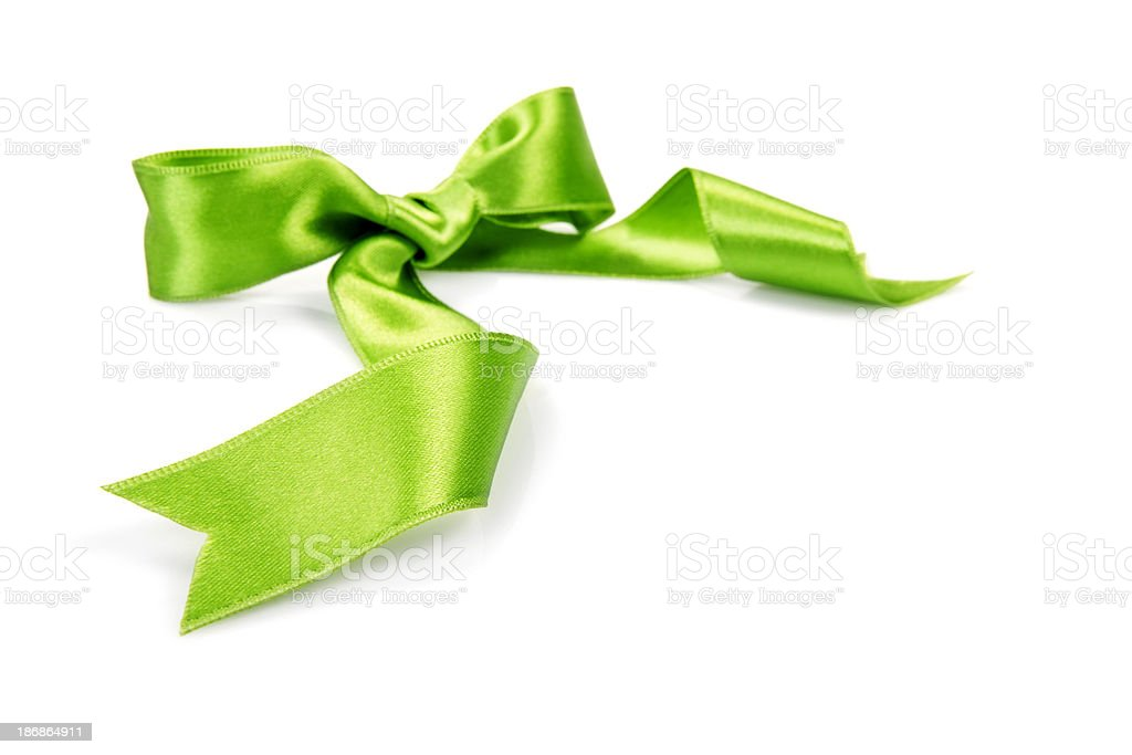 Green bow royalty-free stock photo