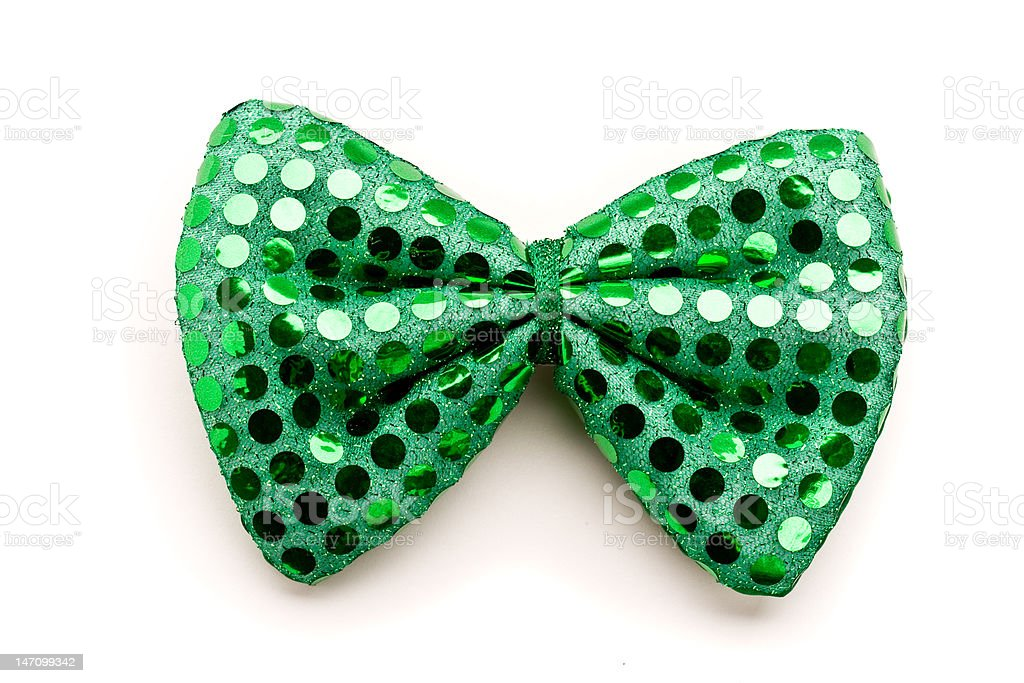 Green bow tie for St.Patrick's Day stock photo