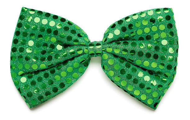 Green bow tie Green bow tie on white background bow tie stock pictures, royalty-free photos & images