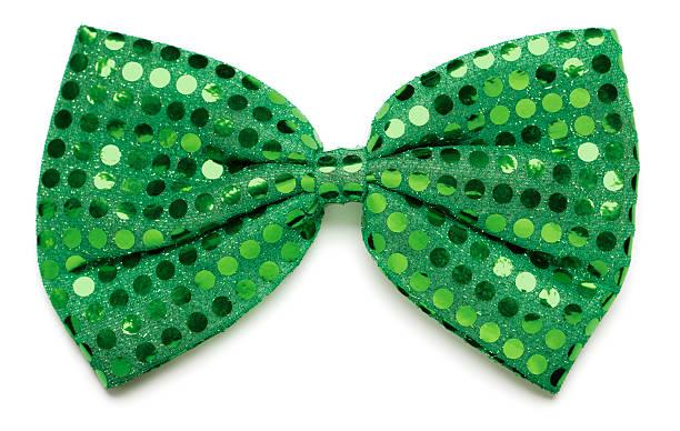 Green bow tie stock photo