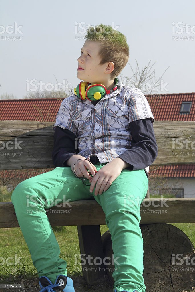 green boy stock photo