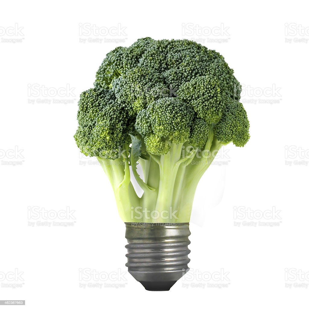 green broccoli  bulb stock photo