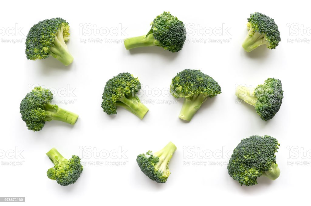 Groene broccoli patroon voedsel. foto