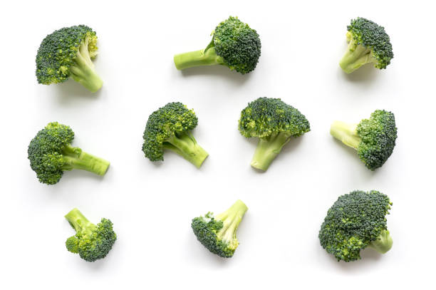 Green broccoli pattern food. stock photo