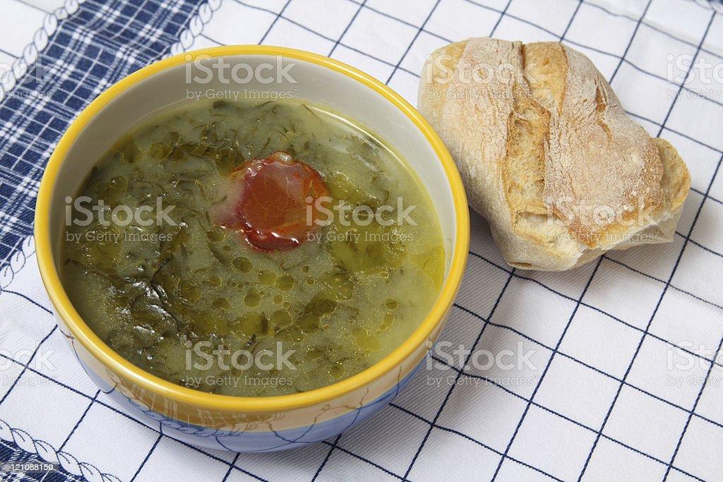 Sopa de sopa verde - fotografia de stock