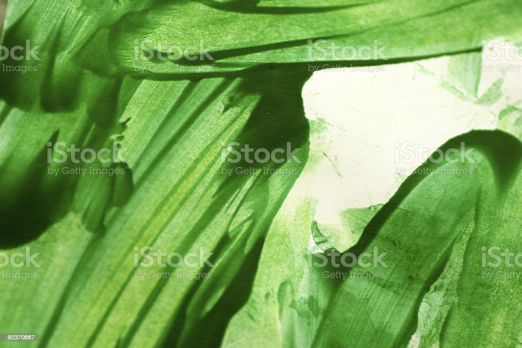 Green brushstroke watercolor background royalty-free stock photo