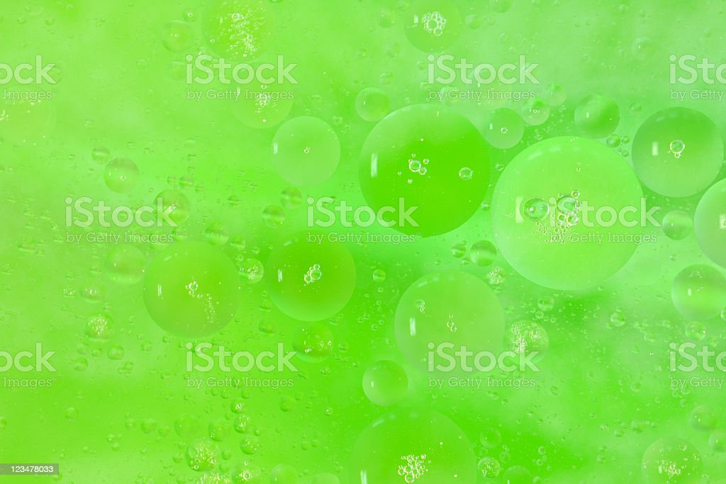 Green Bubbles Background Pattern royalty-free stock photo