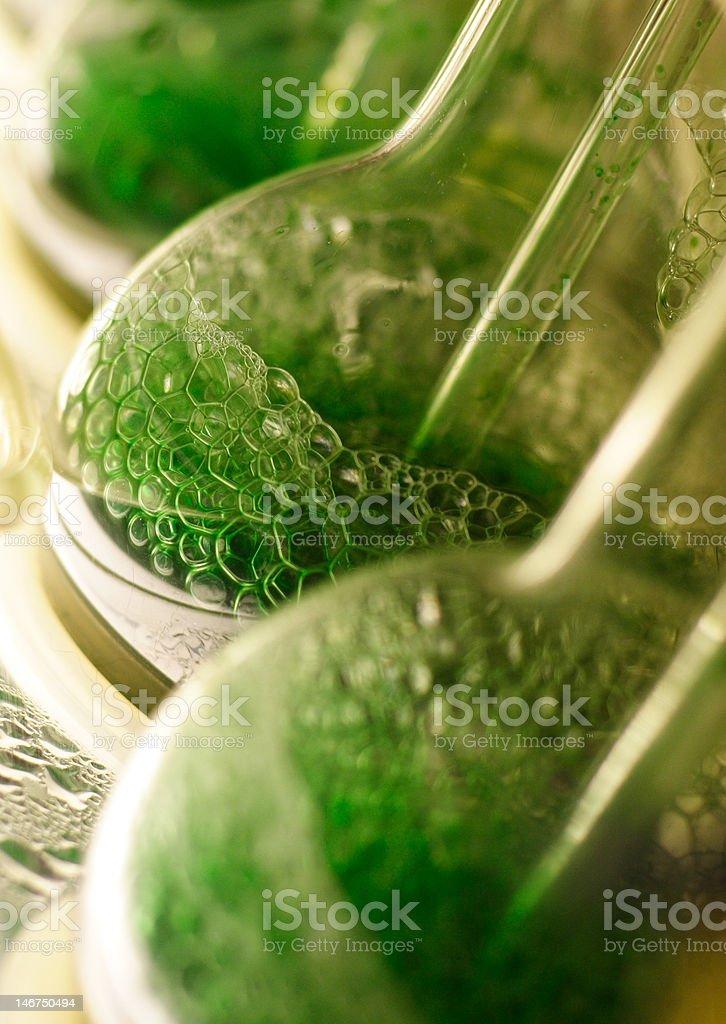 green bubbles stock photo