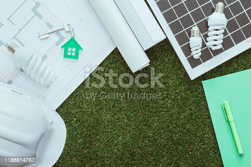 904490858 istock photo Green building and alternative energies 1188614767