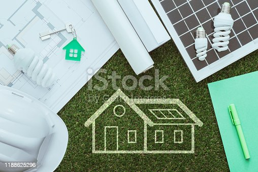 904490858 istock photo Green building and alternative energies 1188625296
