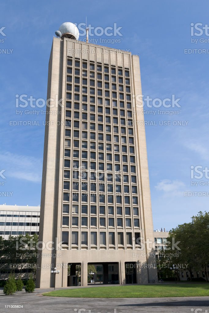 Green Building, Massachusetts Institute of Technology campus royalty-free stock photo