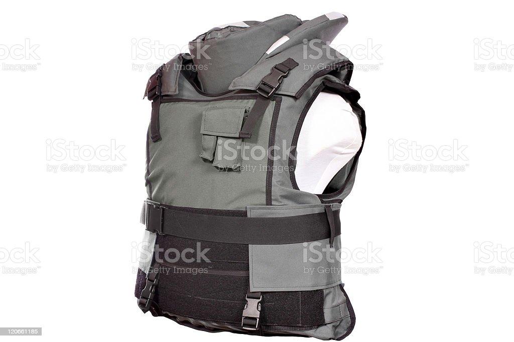 green bulletproof vest royalty-free stock photo