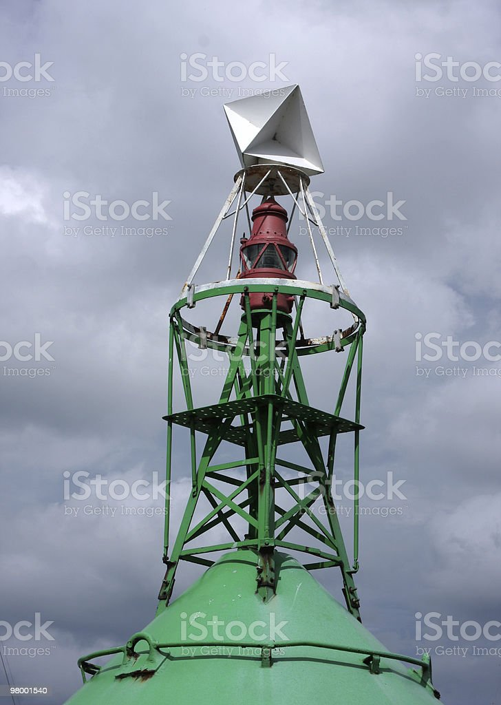Green Buoy royalty free stockfoto