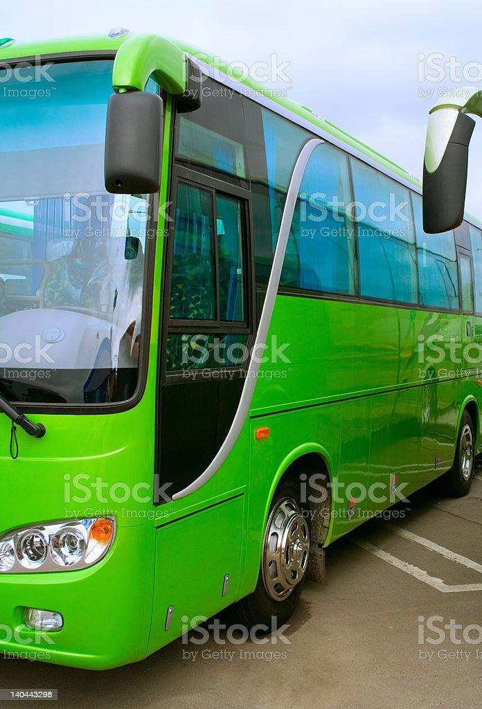 green bus royalty-free stock photo