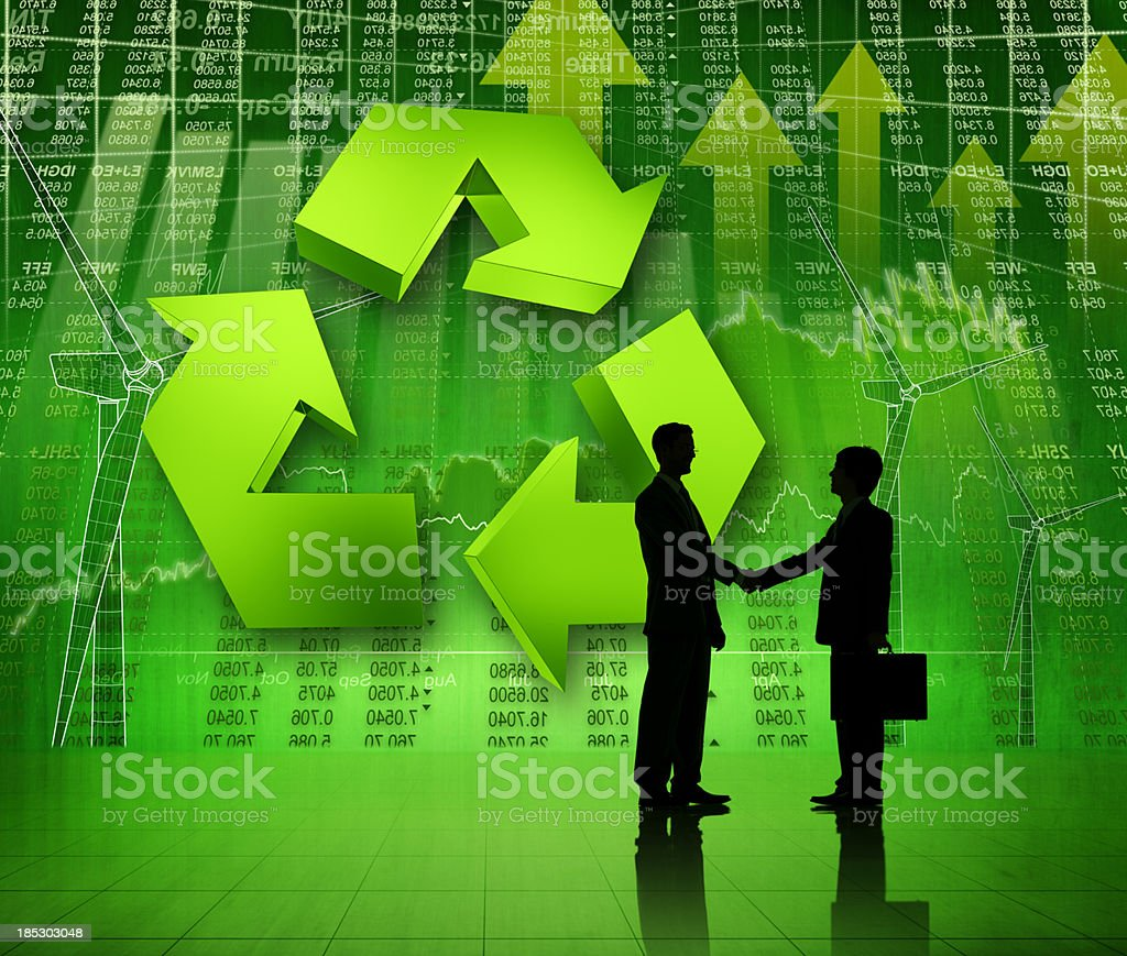 Green Business Agreement. royalty-free stock photo