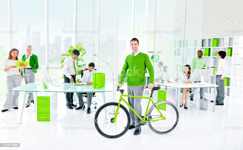 Green Business and office royalty-free stock photo