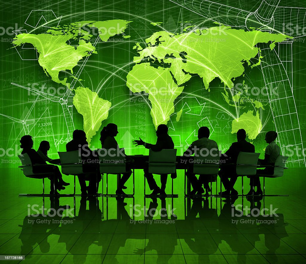 Green business meeting. royalty-free stock photo