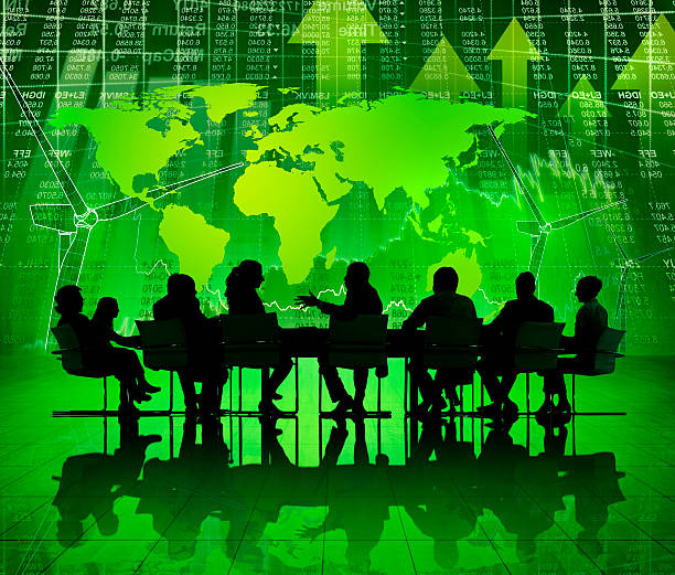 Green Business Meeting.  social responsibility stock pictures, royalty-free photos & images