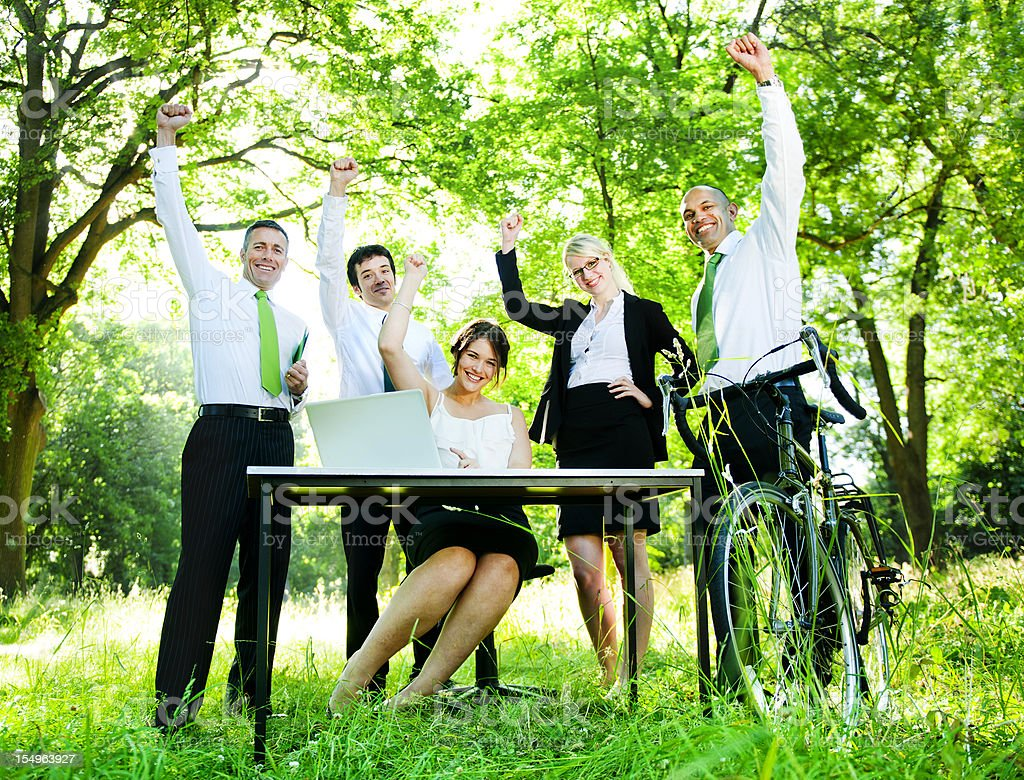 Green Business team royalty-free stock photo