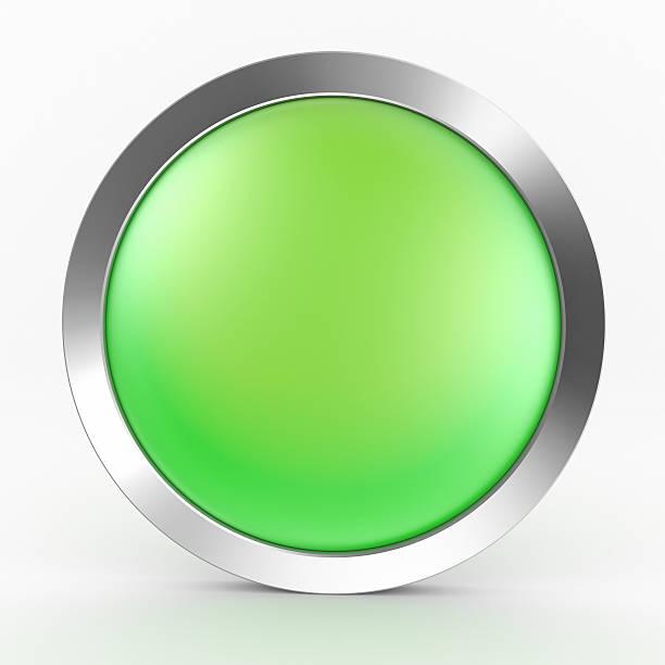 Botón verde icono - foto de stock
