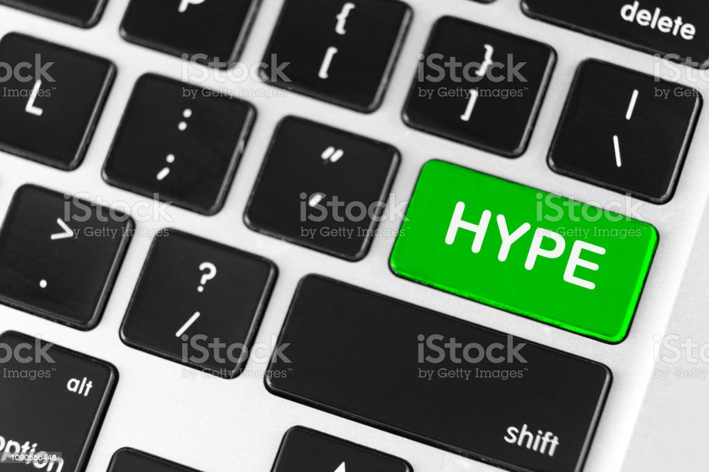 Hype Green Button On Black Computer Keyboard Stock Photo Download Image Now Istock