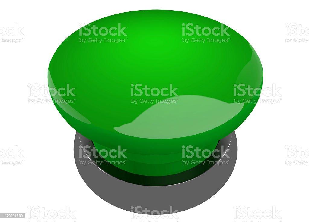 Green buzzer button stock photo