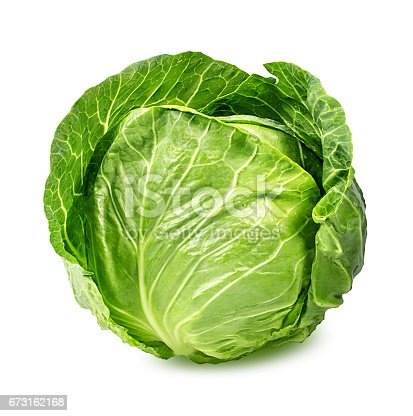 Green cabbage isolated on white backgroundGreen cabbage isolated on white background