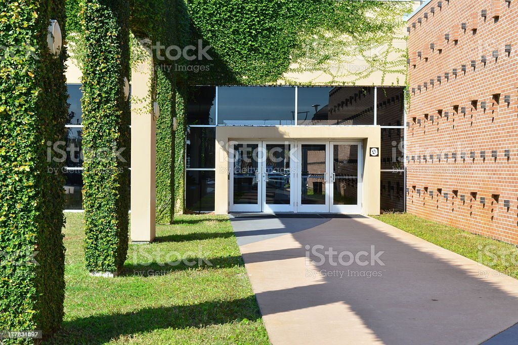 green campus building royalty-free stock photo