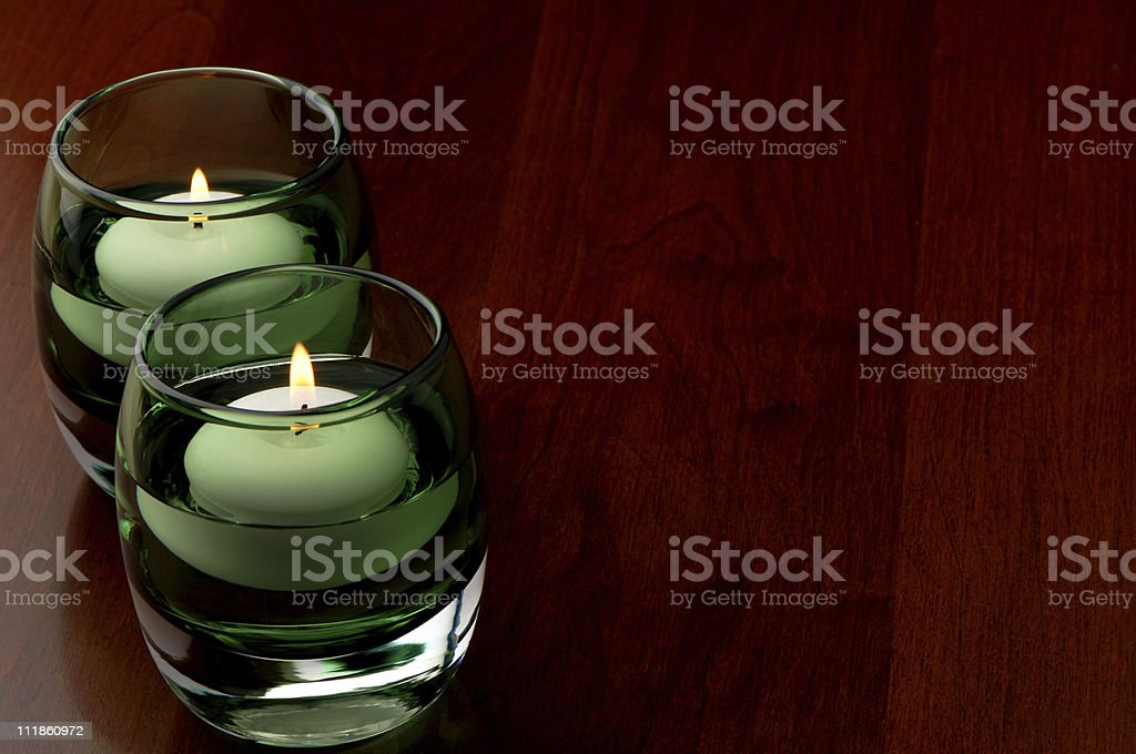 Green Candles royalty-free stock photo