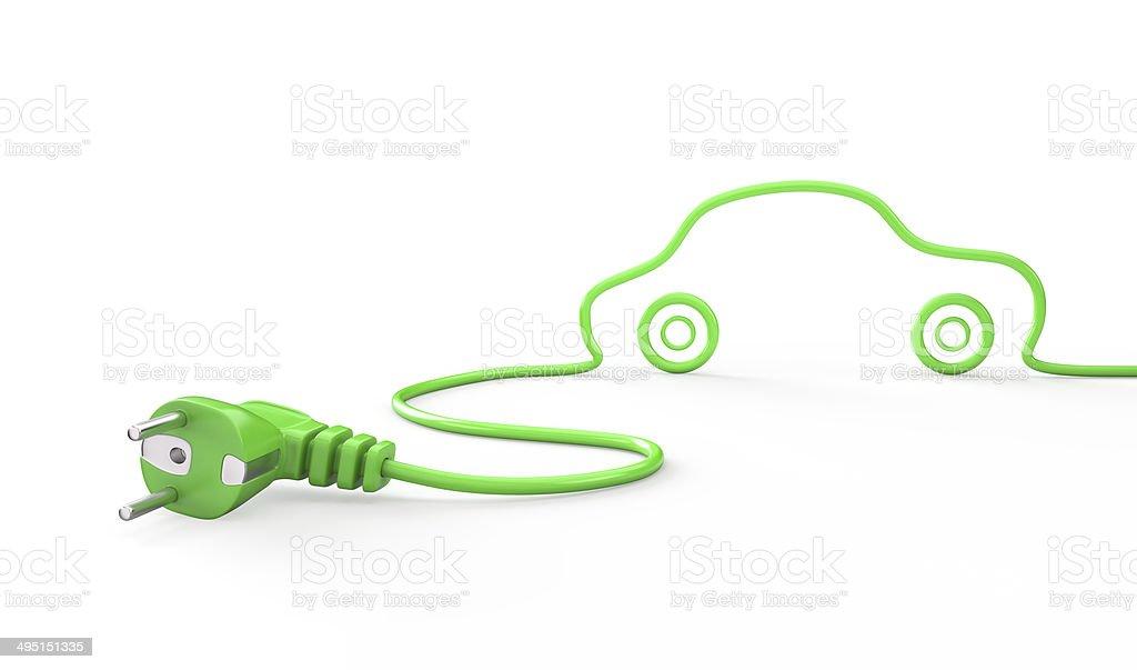 Green car , energy concept stock photo