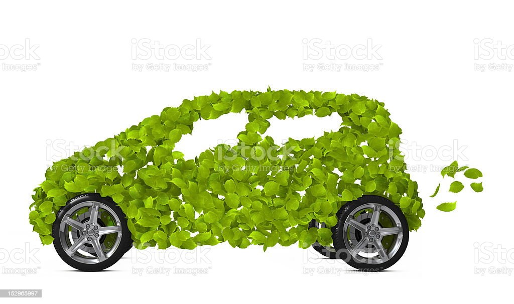 Green car royalty-free stock photo
