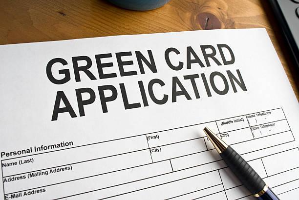 Green Card Application stock photo