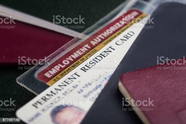 Green card or permanent resident card and employment authorization picture id877497140?b=1&k=6&m=877497140&s=612x612&h=uve mur8j zkrgddzsqiyn9sapt8snzwqty60o0olek=