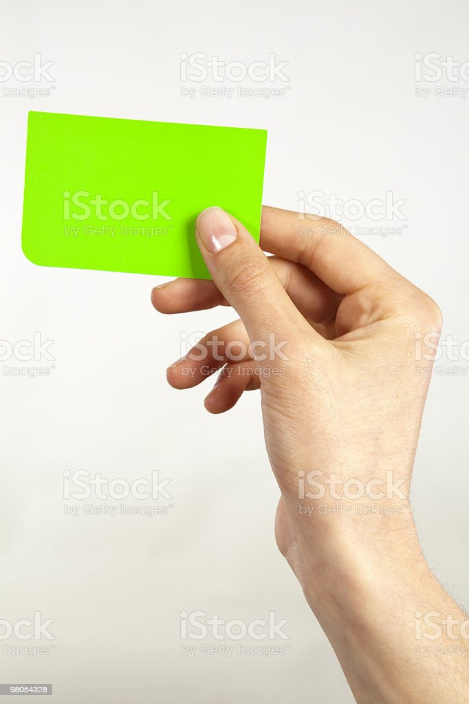 Green Card royalty-free stock photo