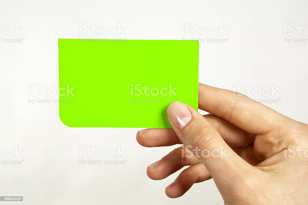 Green Card royalty-free stock photo