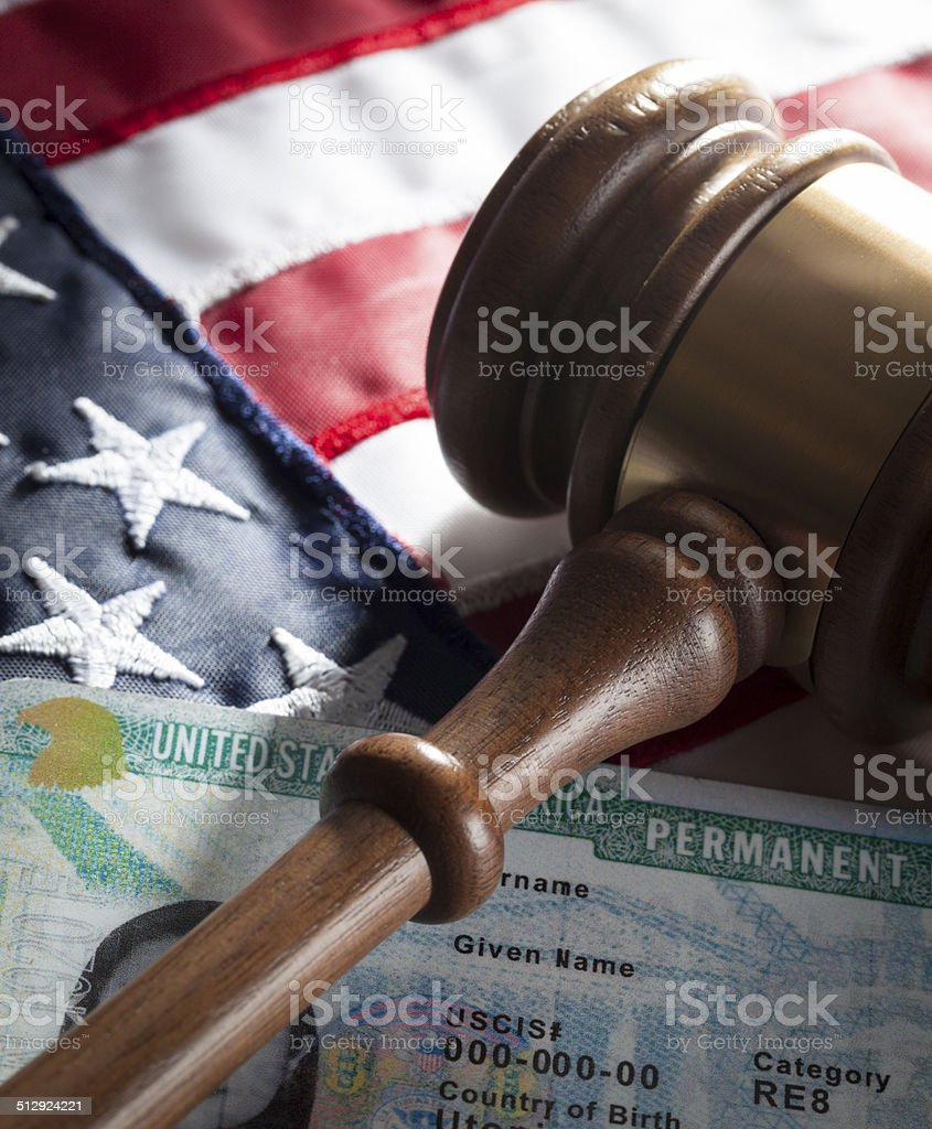Green Card - USA & Mexico stock photo