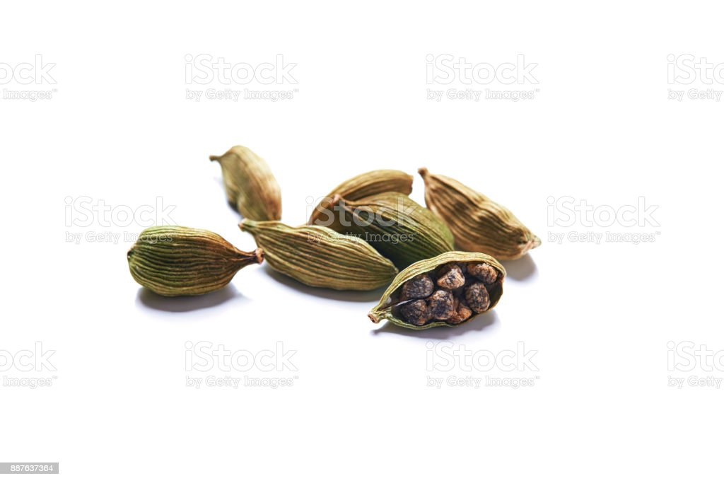 green cardamom stock photo