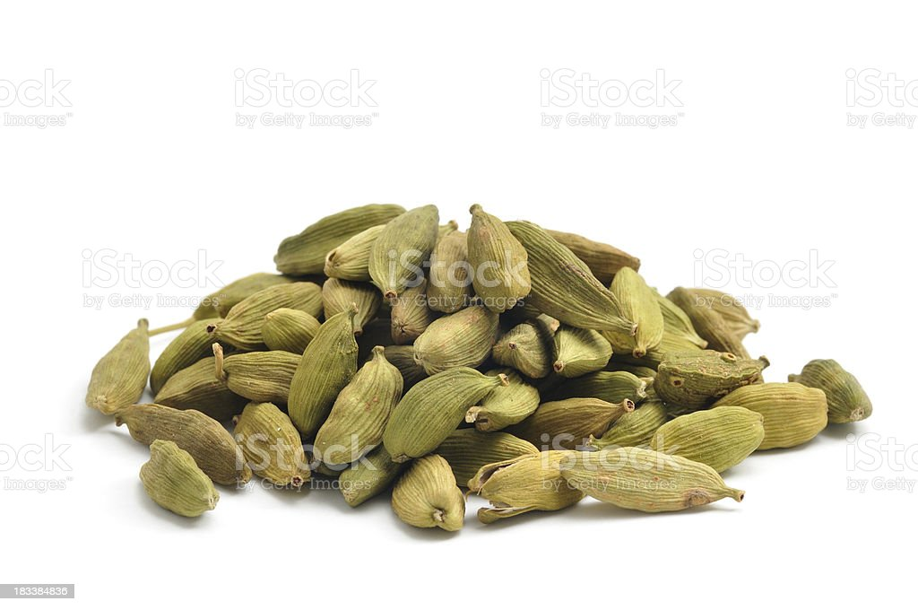 Green Cardamom Pods stock photo