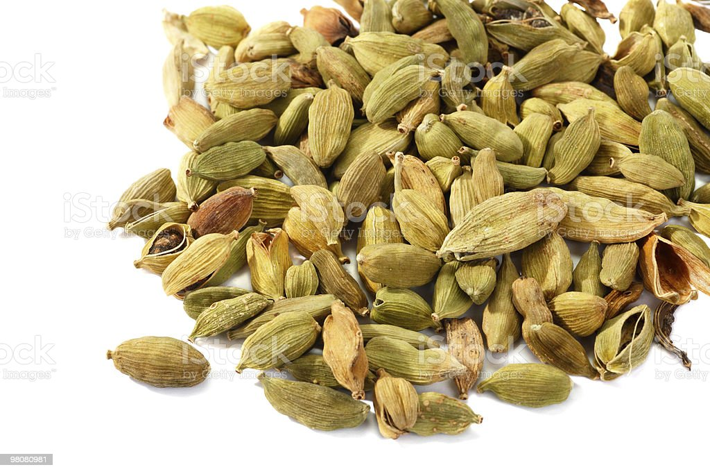Green cardamom seeds royalty-free stock photo