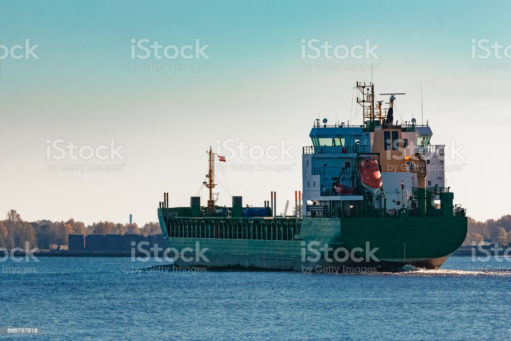 Green cargo ship foto stock royalty-free