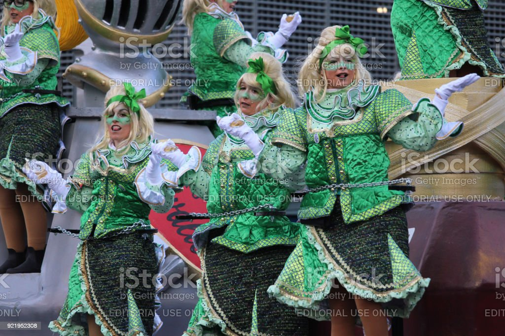 Green Carnival Costumes stock photo