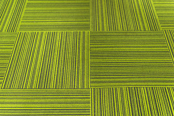 Green Carpet Tiles stock photo