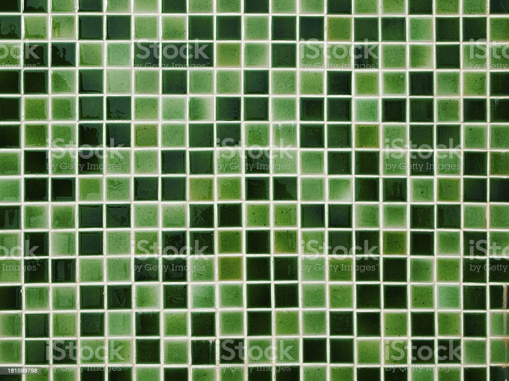 Green Ceramic tile wall royalty-free stock photo
