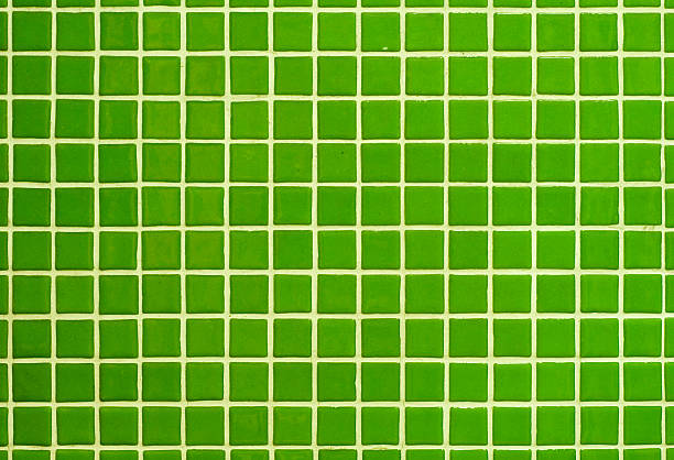 Green Ceramic Tiles stock photo
