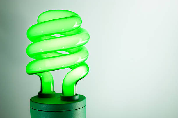 Green CFL (for on-screen use only) stock photo