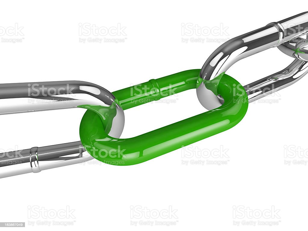 Green chain link royalty-free stock photo