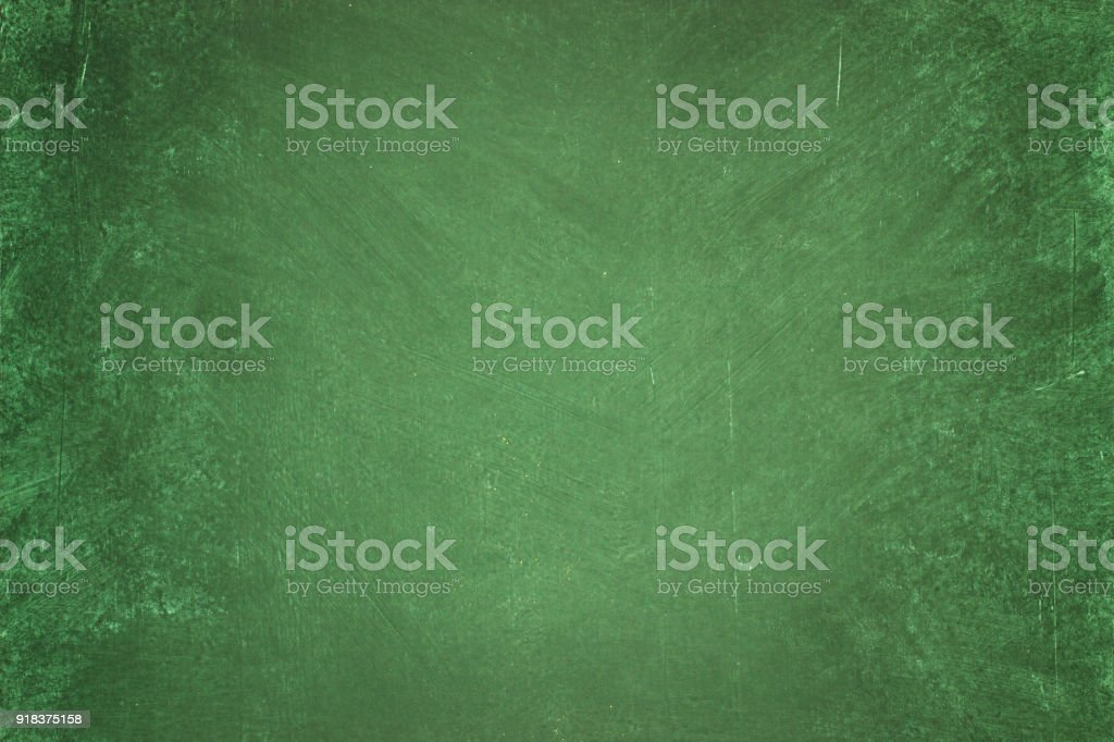 green chalkboard background. clean surface of the blackboard stock photo